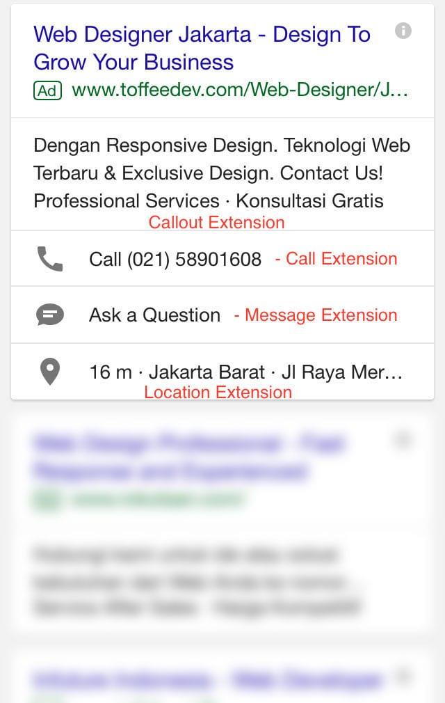 ekstensi google search campaign