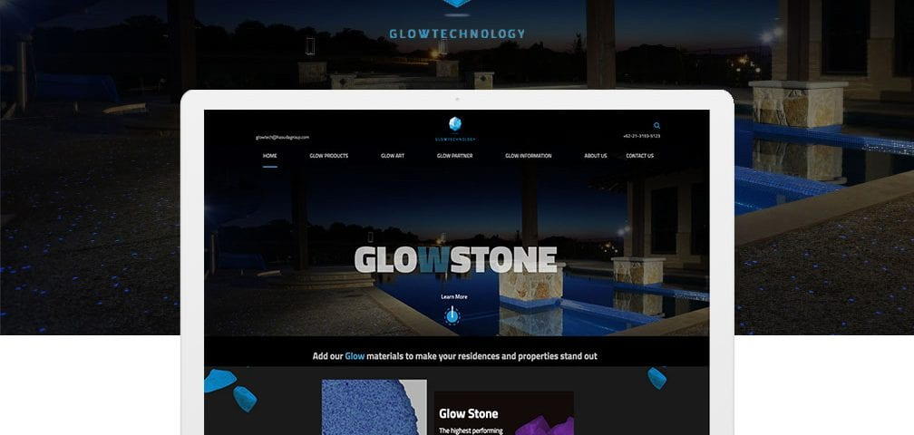 Glowtech Portfolio Header